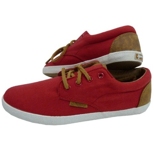 Djinns Nice Low-Pro Canvas Sneaker Red, Red, 39