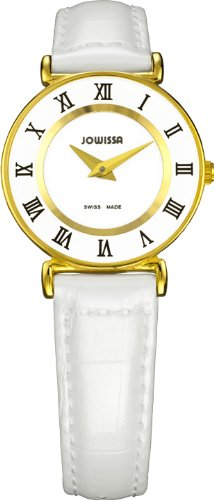 Jowissa Roma Women's Quartz Watch with White Dial Analogue Display and White Leather Strap J2.027.S