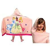 Disney Princess Hooded Towel: Features Cinderella, Tiana and Aurora