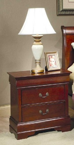 Coaster Fine Furniture 200432 Louis Philippe Style Nightstand, Cherry