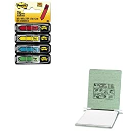 KITACC54115MMM684SH - Value Kit - Acco Pressboard Hanging Data Binder (ACC54115) and Post-it Arrow Message 1/2amp;quot; Flags (MMM684SH)