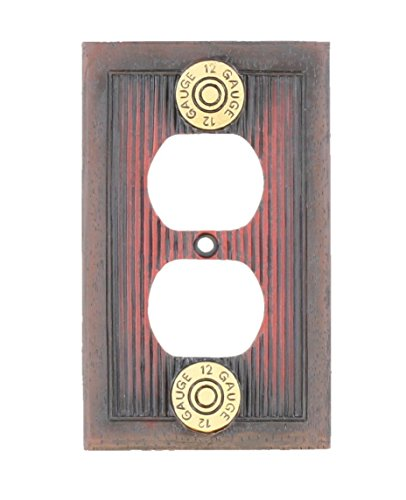 Shotgun Shot Shell Electrical Outlet / Receptacle Cover Plate - 12 Guage Hunting Man Room Cabin Gun Bullet Skeet Decor