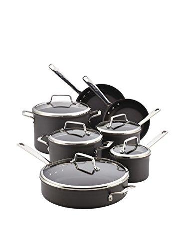 Anolon Authority 12-Piece Non-Stick Cookware Set, Grey