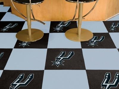 "San Antonio Spurs NBA Carpet 18""x18"" Tiles"