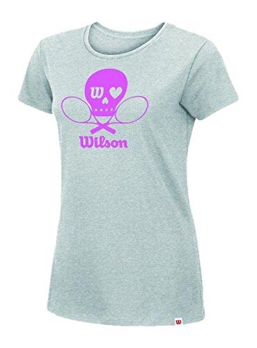 Wilson-Secondo le donne s Skull-Maglietta a maniche corte in cotone