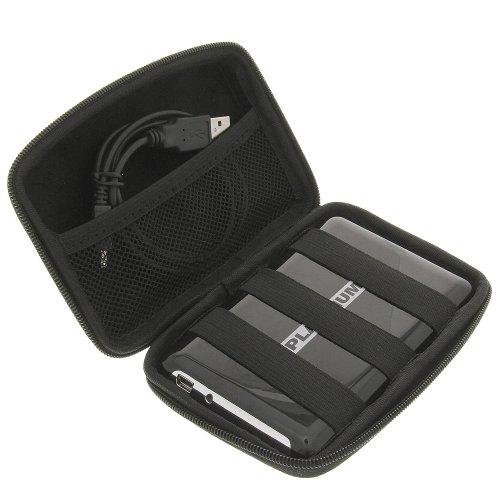 Tasche Case Huelle fuer 6,4cm (2,5 Zoll) Festplatten schwarz für Toshiba HDDR250E03E PX1275E-1G04 StorE art Stor.E Basic 500GB USB3.0 Stor.E Canvio USB3.0 Stor.E Basics USB3.0 Stor.E Basic 1TB USB3.0