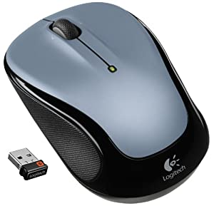 (金盒)Logitech Wireless Mouse M325 罗技Light Silver无线鼠标$8.99,