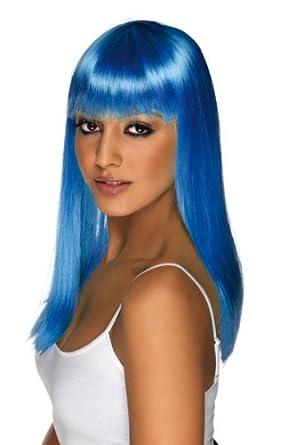 Smiffy's Women's Glamourama Wig, Blue, One Size