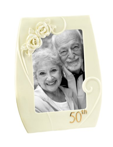 Hortense B. Hewitt Accessories 50th Anniversary Pearl Rose Photo Frame