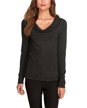 Comma Damen Pullover Regular Fit 85.899.61.0986 PULLOVER LANGARM, Gr. 42, Braun (8960 chocolate)