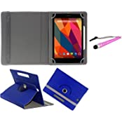 Gadget Decor (TM) PU LEATHER Rotating 360° Flip Case Cover With Stand For D-Link D100 Tablet + Stylus Capacitive...