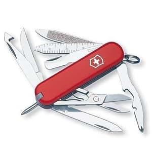 New Victorinox Minichamp Swiss Army Knife Multi-Tool Ruby Finish With Small Blade Scissors Key Ring