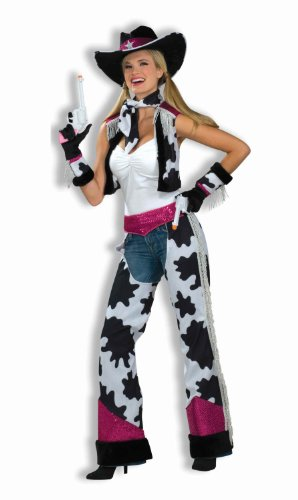 Cowgirl Costume, Black/White/Pink