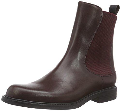 PolliniSCA.NOD.GOMMA25 VIT+EL.BORDEAUX - Stivali Chelsea donna, colore Rosso ( Bordeaux ), taglia 36