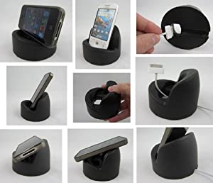 2 PACK - BLACK - SqueezeProp by PODPROPS - Soft Smartphone Stand - Universal Fit Cell Phone Holder / Dock - MADE IN USA