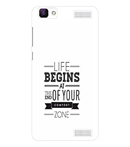EPICCASE Life Begins Mobile Back Case Cover For Vivo V1 Max (Designer Case)