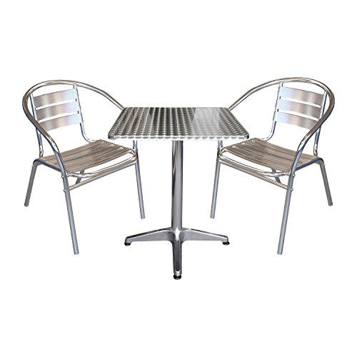 3tlg-Gartenmbel-Balkonmbel-Terrassenmbel-Bistro-Set-2x-Aluminium-Bistrostuhl-Stapelstuhl-Bistrotisch-Klapptisch-60x60cm-Gartengarnitur-Sitzgruppe-Sitzgarnitur-Bistrombel