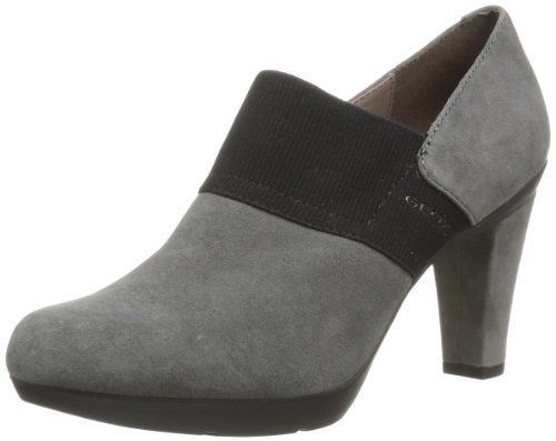 Geox D Inspiration, Scarpe col tacco donna, Gris (Dk Grey), 36