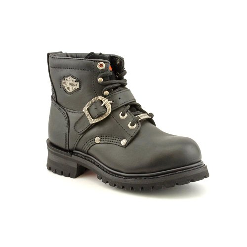 harley davidson faded steel toe motorcycle boots womens 9 5 black 16 99