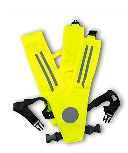 REALflex-V-KIDS II - Sicherheitskragen und Leuchtkragen für Kinder mit Strangulierschutz, BRUSTGURT und Reflexapplikationen