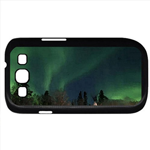 Northern Lights, Yellow Knife, Canada. (Sky Series) Watercolor Style - Case Cover For Samsung Galaxy S3 I9300 (Black)