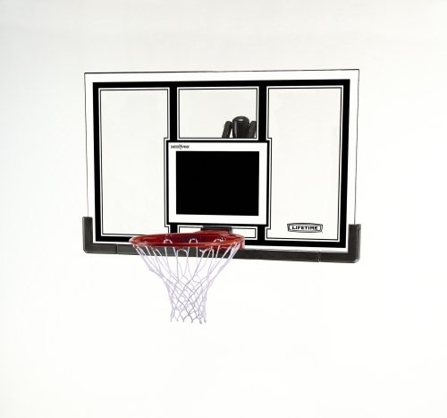 Lifetime 71526 Competition Square Shatter Guard Basketball 54-Inch Backboard and Slam-It Pro Rim