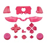 WPS Matte ABXY Dpad Triggers Full Buttons Set Mod Kits for Newest Xbox One Controller (3.5mm Port) with Screwdriver (Torx T6 T8) Set (Pink) (Color: pink)