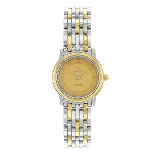 Omega De Ville Prestige 4370.12 Steel & 18K Yellow Gold Quartz Ladies Watch (Omega Gold Ladies compare prices)