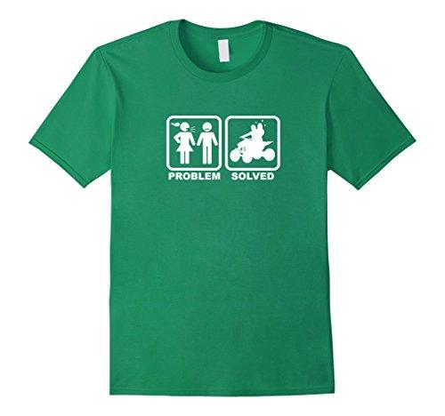 [Men's Funny quad racer shirt - Problem solved - happy ending Medium Kelly Green] (Toddler Girl Racer Costume)