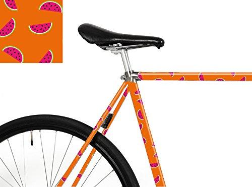 """MOOXI-BIKE Fahrrad-Folie """"Happy Melons"""" – Dein Bike ist einzigartig! (ausreichend für Teilbereiche)"""