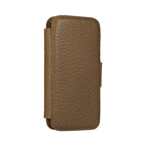Special Sale Sena 826802 Wallet Book Leather Case for iPhone 5 & 5s - 1 Pack - Retail Packaging - Tan