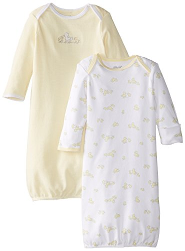 Little Me Unisex-Baby Newborn Ducks Me 2 Pack Gown, Yellow Multi, 0-3 Months front-892919