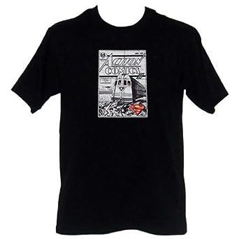 Superman Action Comics Retro Mens T-Shirt, Medium