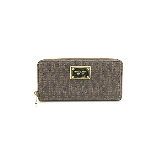06. MICHAEL Michael Kors Mk Logo Zip Around Continental