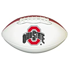Buy Ohio State Buckeyes Official Size Synthetic Leather Autograph Football by Game Master