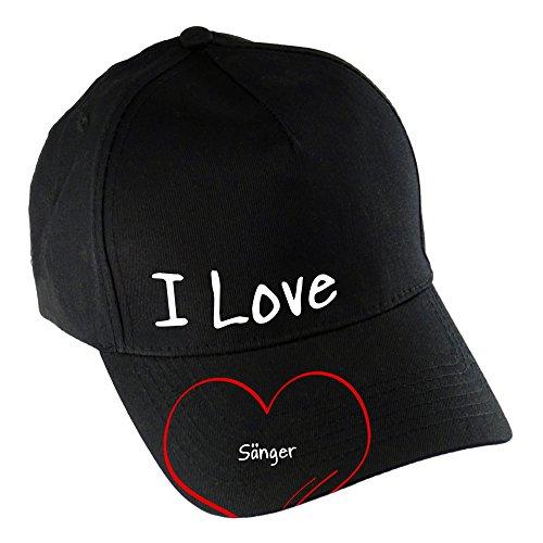 Baseballcap-Modern-I-Love-Snger-schwarz