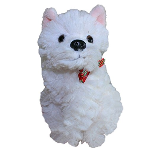 LightningStore Super Cute Small White Terrier Puppy Doll Realistic Looking Stuffed Animal Plush Toys Plushie Children's Gifts Animals ...