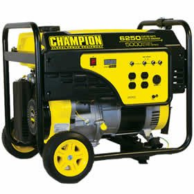 Champion 41030 5000 Running Watt, 6250 Surge Watt Medium-Duty 292 CC Portable Gas Generator – CARB Compliant