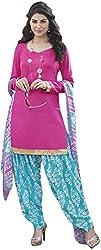 K.K BROTHERS Women's Satin Dress Material (Pink)
