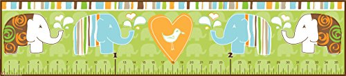 Mona Melisa Designs Baby Growth Chart, Green Elephant