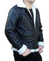 Outfitmakers Men's Black Vintage Shearling B3 Bomber Jacket