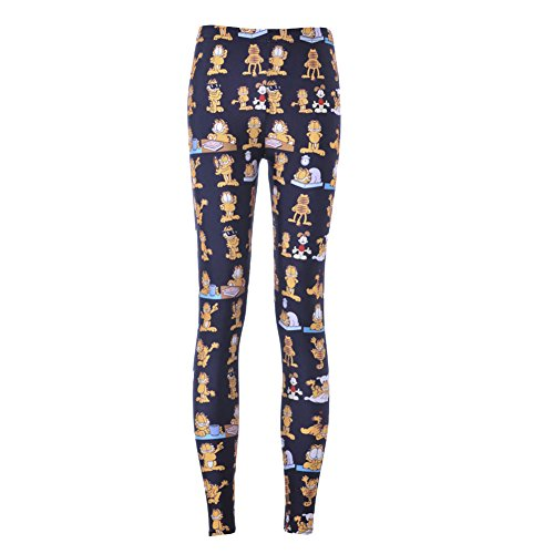Chocky Women Garfield Cartoon Pants Trousers Jegging Fitness Sport Legging (M) (Crazy Sexy Cool Vinyl compare prices)