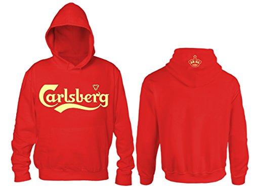 Felpa Carlsberg Unofficial (XL, Rosso)