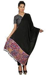 Anuze Fashions Jamawar Viscose Self Design Women's Shawl