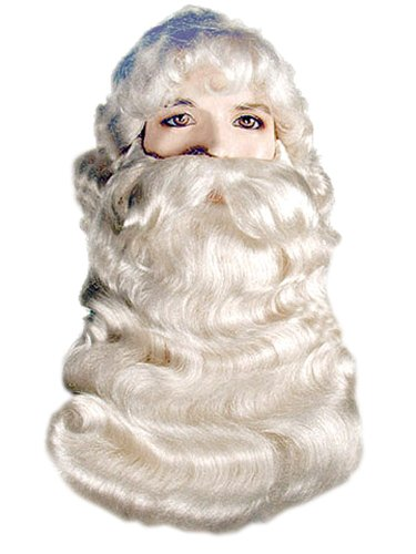 Costume Adventure Super Deluxe Santa Wig and Beard Costume Set