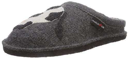 Haflinger Molly, Pantofole basse Unisex - adulto, Grigio (Grau (4 anthrazit)), 41