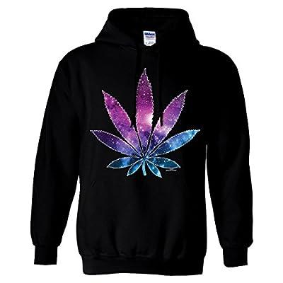 Cosmic Cannabis Space Pot Leaf Galaxy Sweatshirt Hoodie