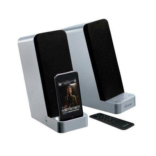 Ihome Ih70 Computer Stereo Speaker System With Dock For Ipod (Silver)