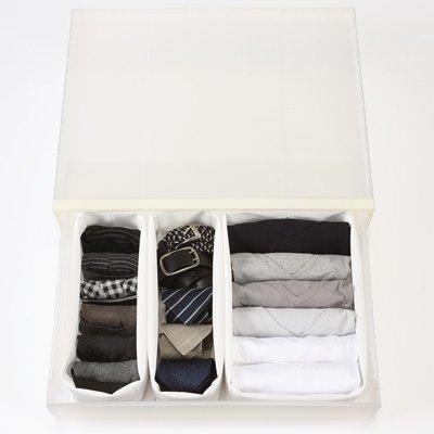 無印良品 高さが変えられる不織布仕切ケース・小・2枚入り 約幅11×奥行32.5×高さ21cm
