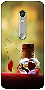 Snoogg Love Potion Solid Snap On - Back Cover All Around Protection For Motor...